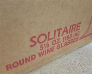 (71) Retired Libbey #17108 DuraTuff Solitaire 5.5 oz round wine glasses New...