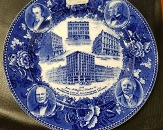 Political blue plate