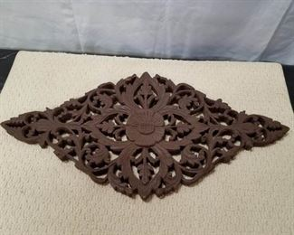 Ornate carved wood decor