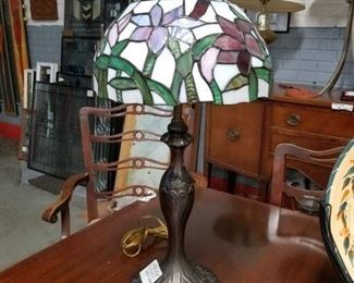 Dale Tiffany shade ornate base table lamp