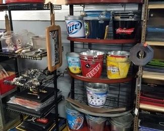 Assorted new & used beer buckets