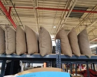 "(8) Upscale 24"" x 24"" nova sued pillows"