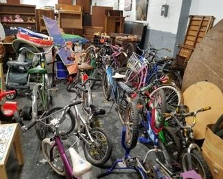 Assorted used vintage kids & adult bikes some collectors items