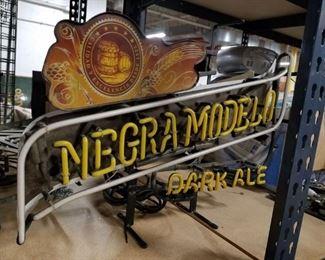 Very Rare Negra Modelo Dark Ale Neon WORKS