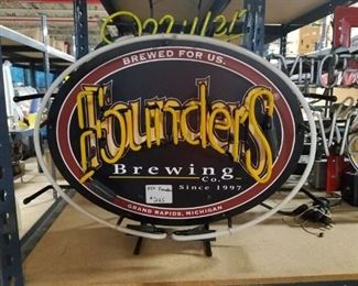 HTF Founders Brewing Neon bar sign WORKS