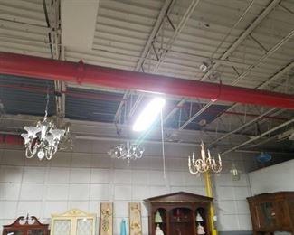 Assorted vintage chandeliers