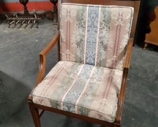 Solid wood fabric padded seat & back chair