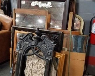 Assorted Frames & mirrors