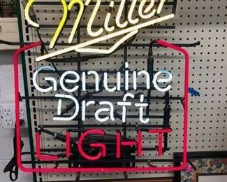 Vintage Miller genuine draft light neon sign