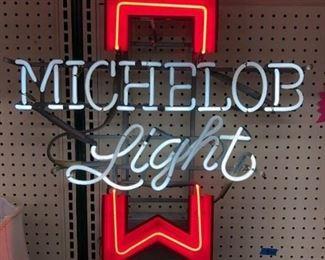 Vintage Michelob Light neon Works