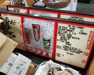 (2) Coca Cola/Sprite large lighted menu boards