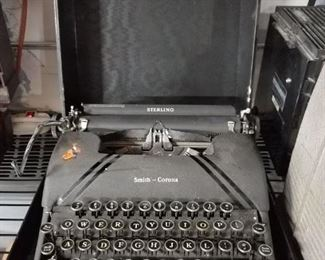 Vintage Smith Corona Sterling typewriter & case