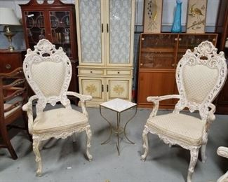 Italian French Provincial ornate arm chairs 4 available (3 match)