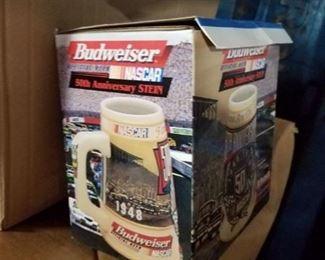 Budweiser Nascar collectors stein in box