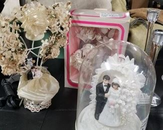 Assorted vintage cake toppers