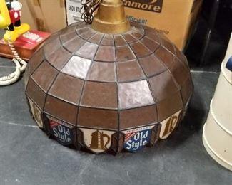 "Vintage 24"" Old Style Beer bar pool table light"