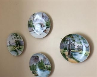 vintage hand painted plates from the 50's