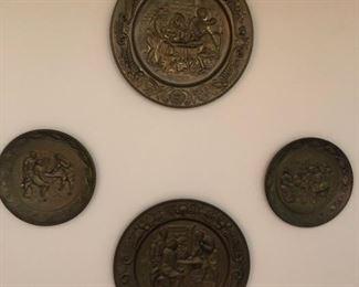vintage brass plates