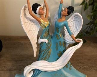 praising angels