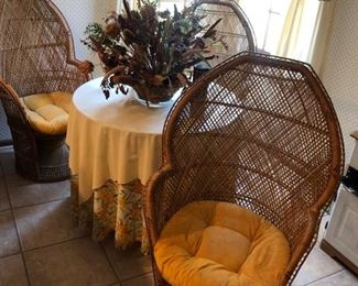 vintage cane chairs.  There are four of these