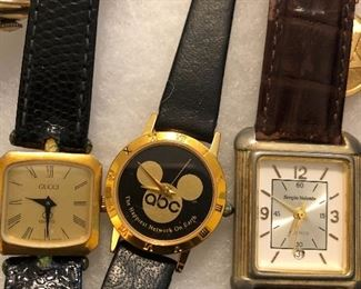 vintage gucci, disnery, and Sergio Valente Watches