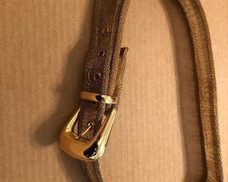 vintage metal mesh belt