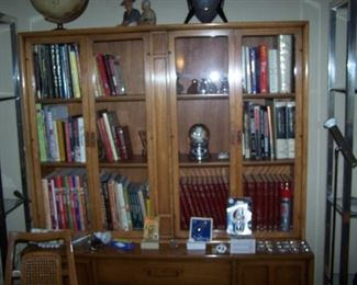 DREXEL CHINA CABINET/ BOOKS & SMALLS