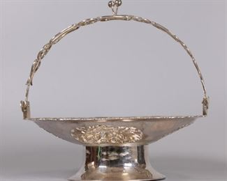 Chinese silver basket, possibly 19th c.