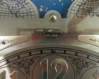 Ridgeway Traditional Grandfather Clock Pierced Moon Dial and Beveled Glass Door