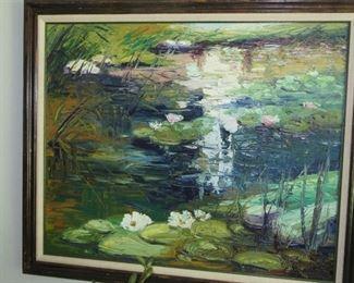 """Waterlillies"" Original Oil Yuri Skorupsky"