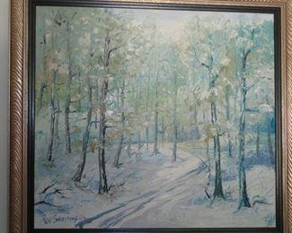 """""""Winter"""" Original Oil Landscape Yuri Skorupsky"""