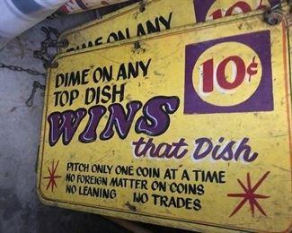 Antique metal advertising signs
