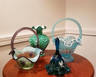 Fenton Glass Collection Signed and Hand Painted