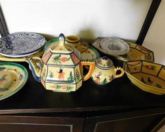 Quimper ware tea set