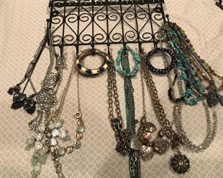 Necklaces, bracelets earrings.....