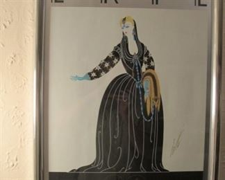 Erte limited edition silk screen poster