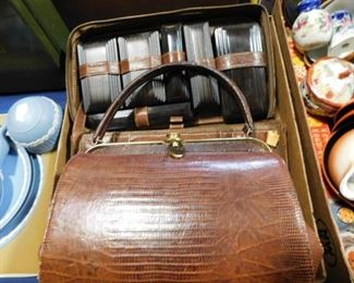 Leather purse and travel set