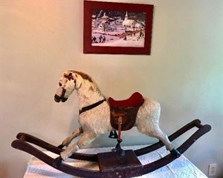 Civil War era rocking horse