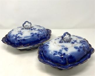 Flow Blue Covered Dishes https://ctbids.com/#!/description/share/193454