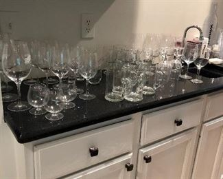 Owner was a sommelier so we have lots of wine glasses--boxes of them!