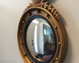 Vintage Federal Style Eagle Porthole Convex mirror