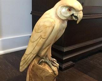 Vintage alabaster parrot