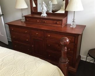 Flawless Yield House Southern Pine furniture bedroom set with queen bed