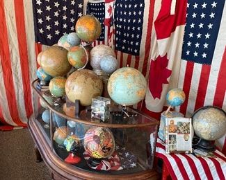 Globes and Flags