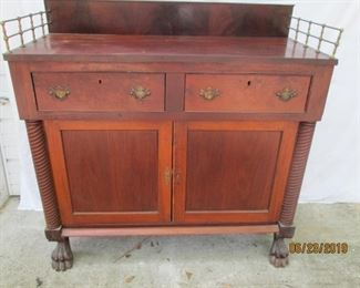 Victorian sideboard with claw feet