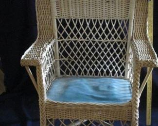 Wicker chair mid 50s