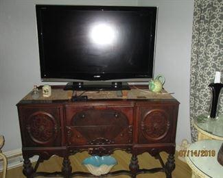 Sideboard matching display case TV sold separately