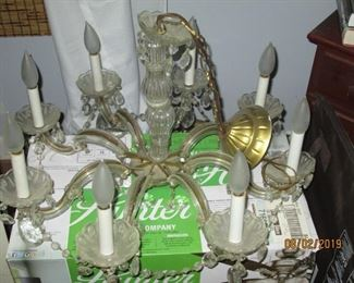 8 branch crystal chandelier