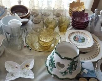 Lladro, ceramic and glass