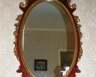 Antique Federal Style Mahogany & Gilt mirror